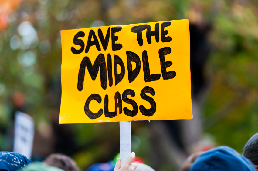 Struggling to Survive: Middle Class America, Drowning in Inequality