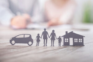 family-cut-out-bank-life-insurance-concept
