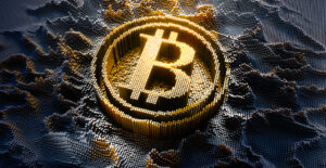 3D-illustration-digitized-bitcoin-symbol